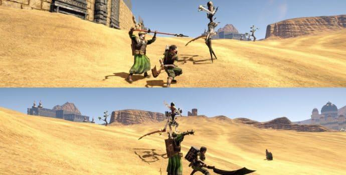 Outward : en coopération squelettes étranges désert