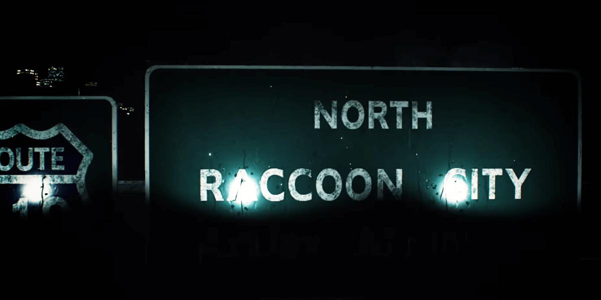 Resident Evil 2 Panneau Raccoon City