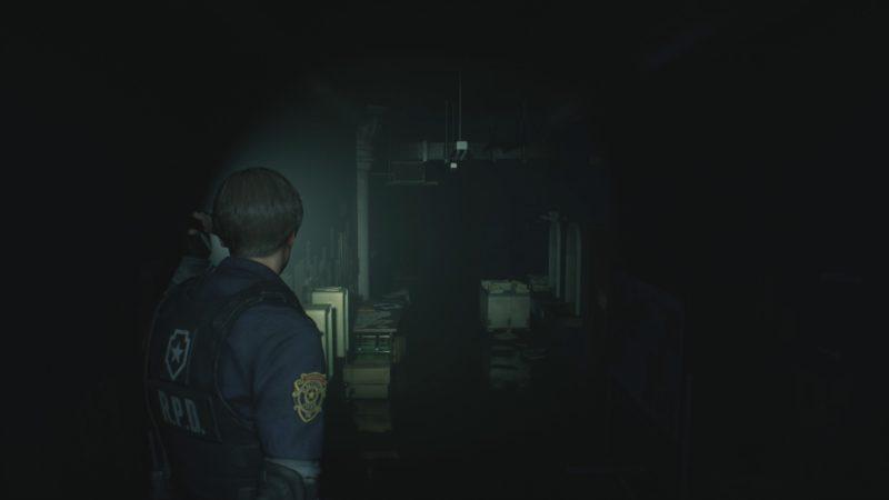 resident evil 2 démo 1-shot couloir est