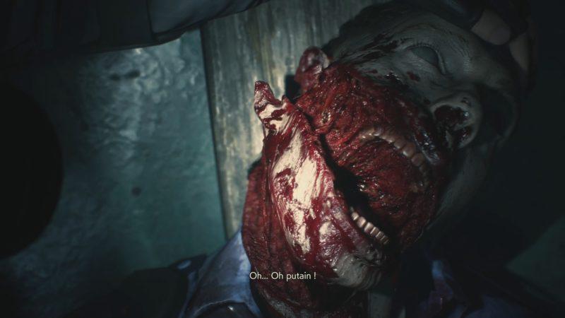 resident evil 2 démo 1-shot cadavre
