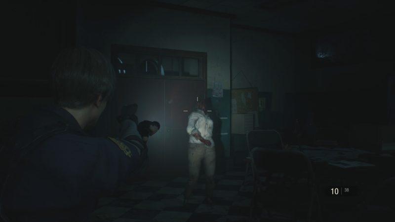 resident evil 2 démo 1-shot zombie