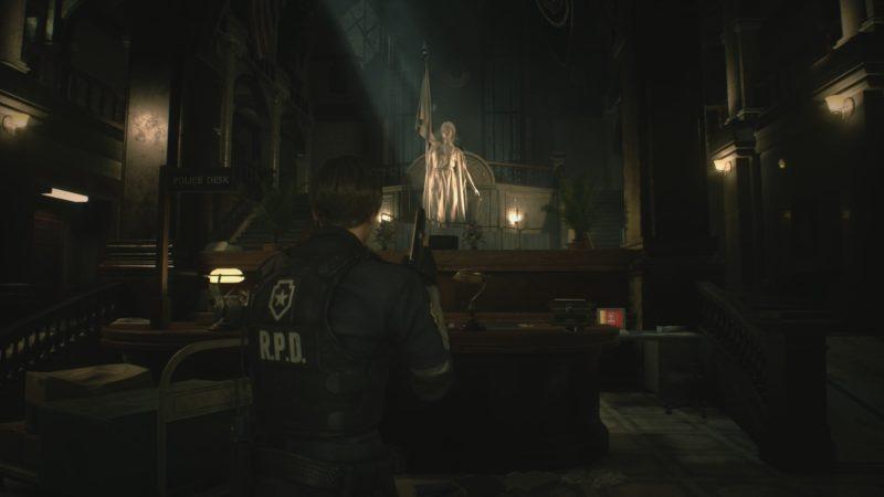resident evil 2 démo 1-shot hall d'entrée commissariat