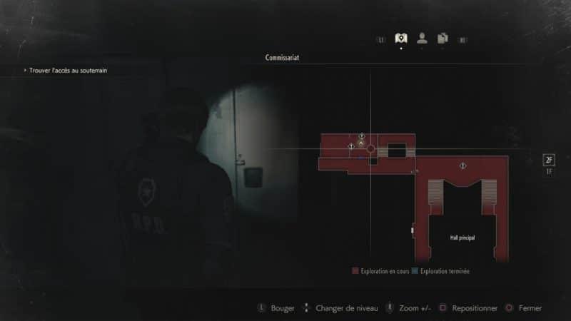 resident evil 2 soluce combinaison casier étage 2 map