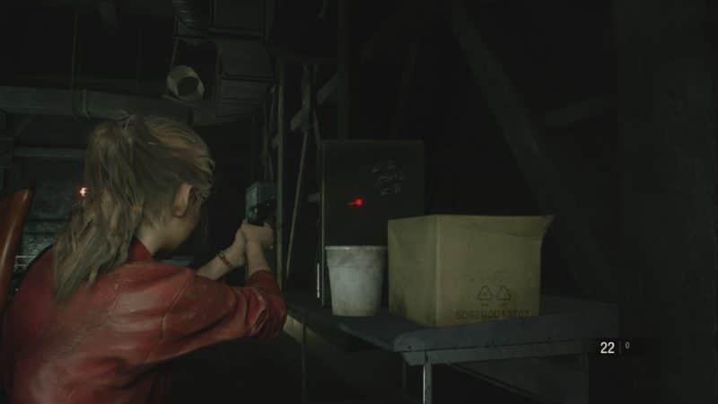 resident evil 2 soluce combinaison coffre égout emplacement