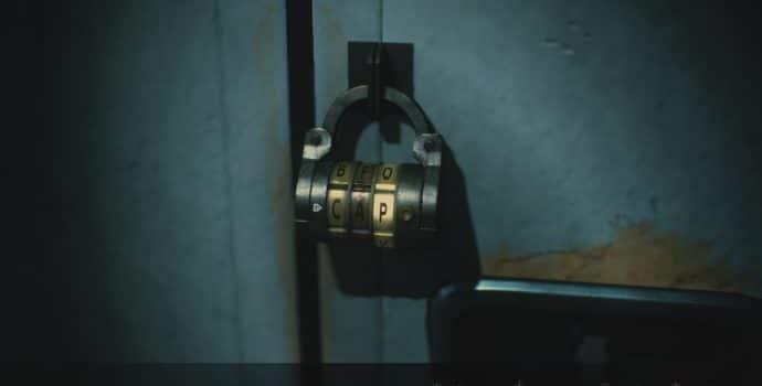 resident evil 2 soluce combinaison casier étage 2 cadenas