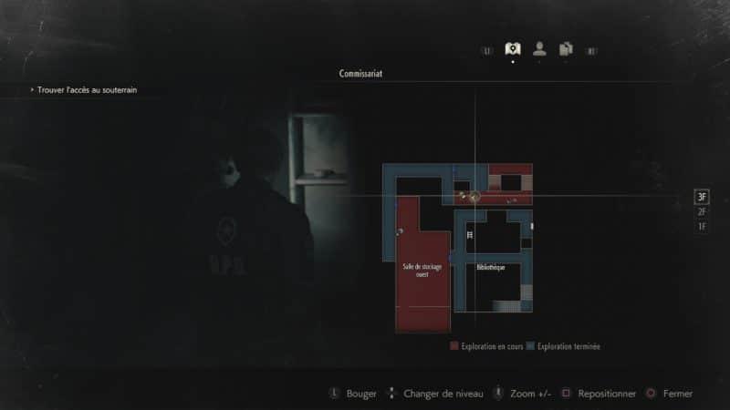 resident evil 2 soluce combinaison casier étage 3 map