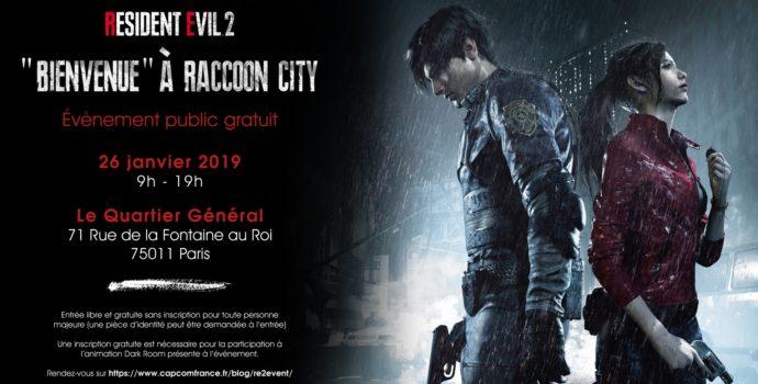 resident evil 2 annonce event public bienvenue à raccoon city