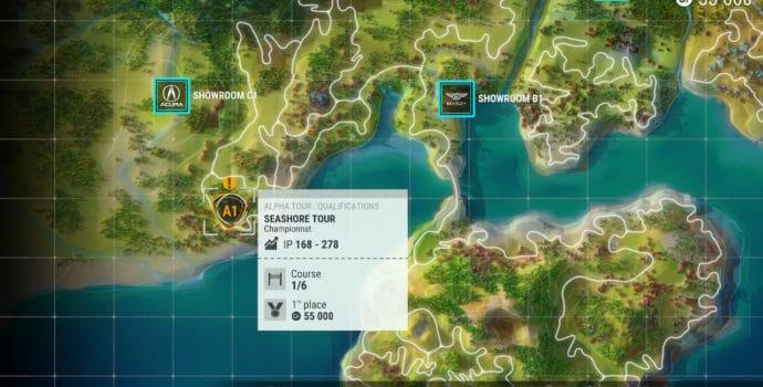 test Gear Club Unlimited 2 - Map