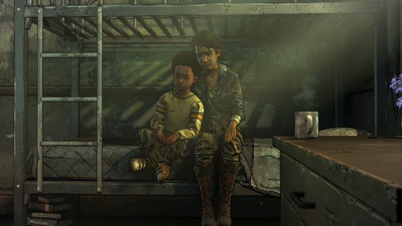 the walking dead : l'ultime saison épisode 3 test clem et alvin lit