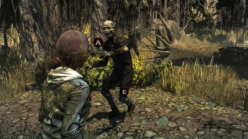 the walking dead : l'ultime saison épisode 3 test innocence brisée bagarre rôdeurs