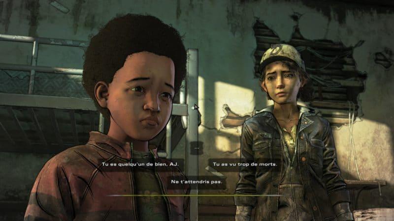 the walking dead : l'ultime saison épisode 3 test innocence brisée choix conversation 2
