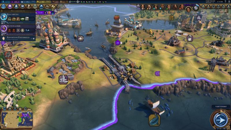 Test civilization VI gathering storm canal