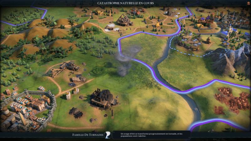 Test civilization VI gathering storm tornade