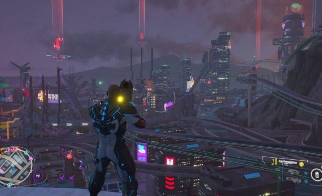 Crackdown 3 ville néons