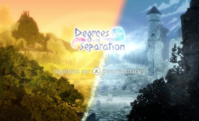 Degrees of Separation page de demarrage sur switch