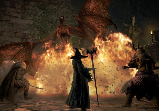 Dragon Dogma: Dark Arisen Mage et guerrier vs dragon