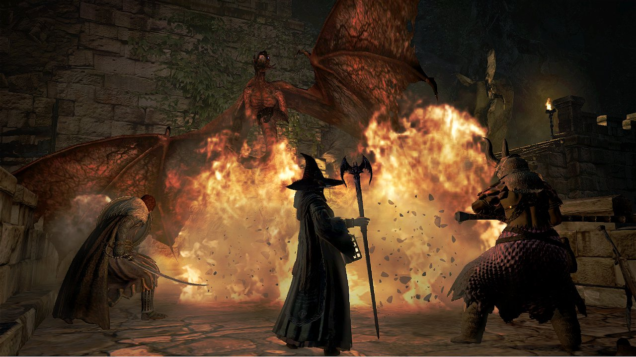 Dragon Dogma: Dark Arisen Mage et guerrier vs dragon
