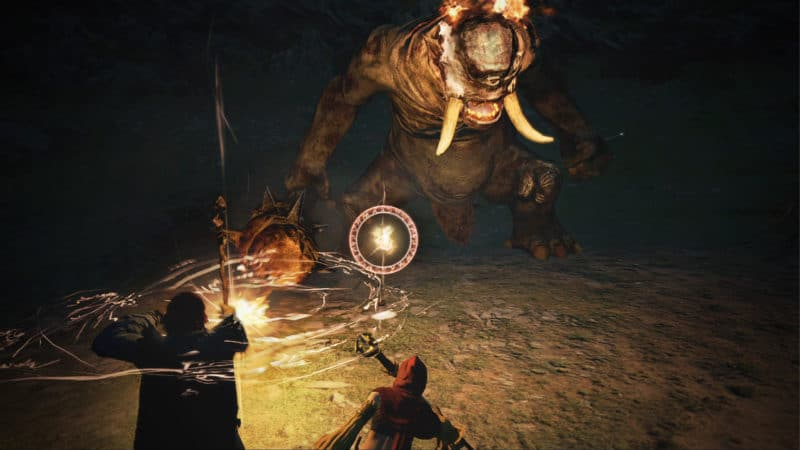 Dragon Dogma: Dark Arisen combat vs Cyclope