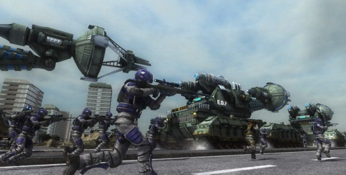Earth Defense Force 5 charge EDF tanks