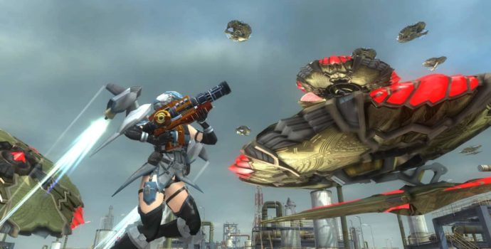 Earth Defense Force 5 wing diver drones