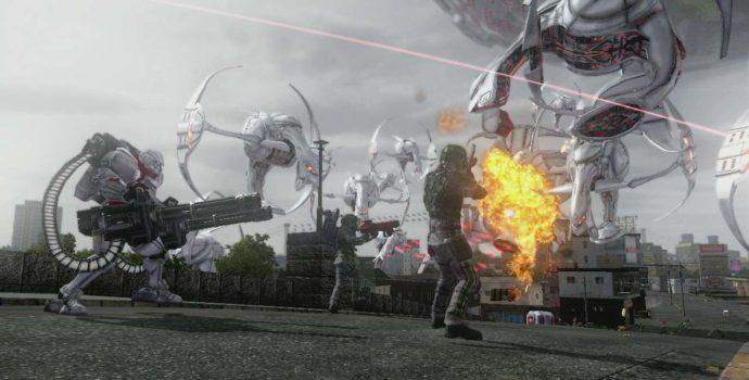 Earth Defense Force 5 combat multi vaisseaux