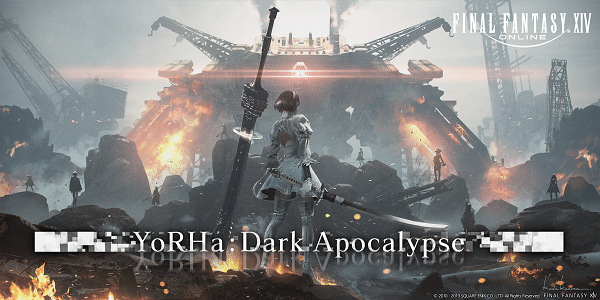 Final Fantasy XIV Shadowbringers - Raid en alliance YoRha : Dark Apocalyspe