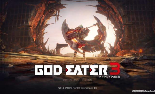 God Eater 3 - Ecran titre