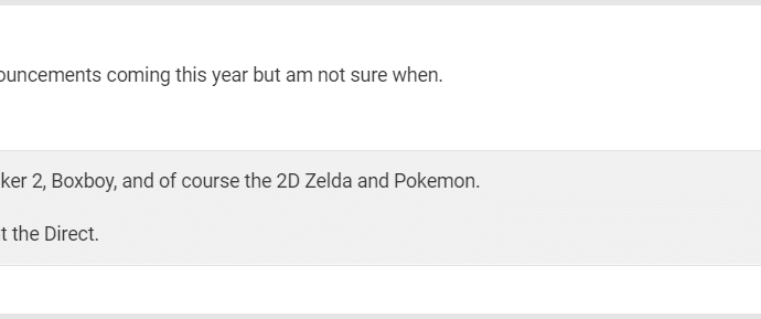 Nintendo Direct - Leaker ResetEra King Zell