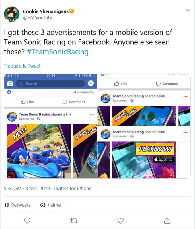 Team Sonic Racing - Mobile pub Visuel 1