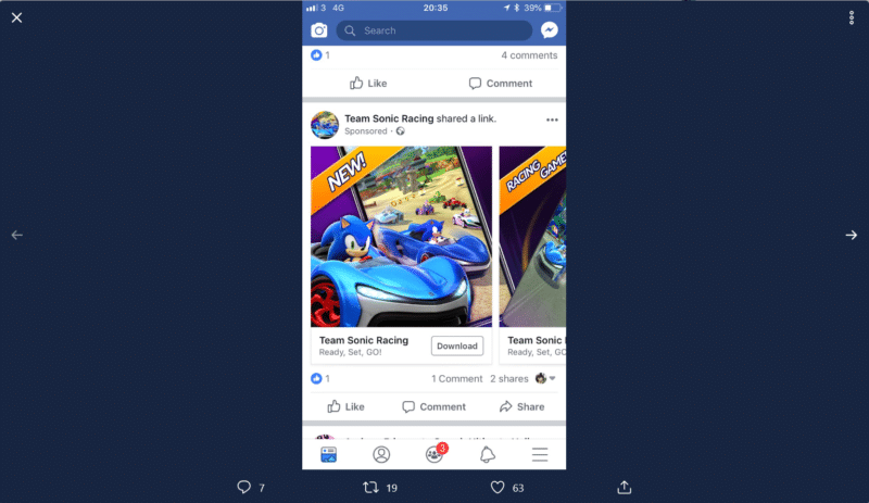 Team Sonic Racing - Mobile pub Visuel 2