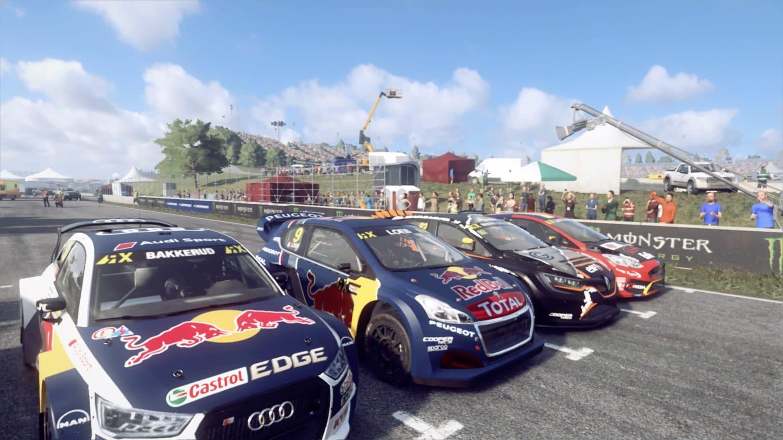 Test DiRT Rally 2.0 - ligne de départ rallycross