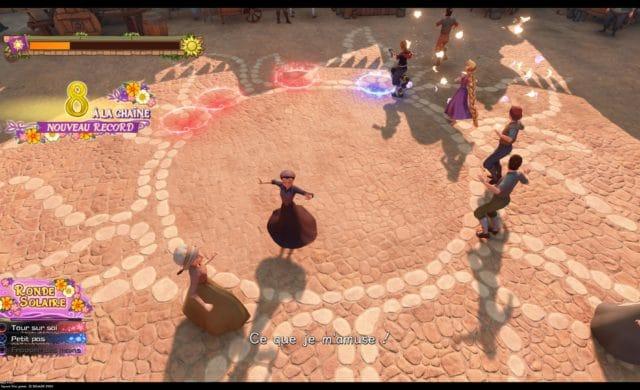Kingdom Hearts III - mini-jeu de rythme avec Sora