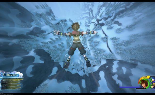 Kingdom Hearts III - Saut de l'ange de Sora