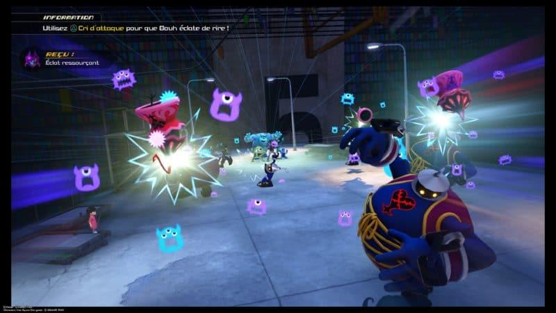 Kingdom Hearts III - Combat dans le monde de Monstre et Compagnie