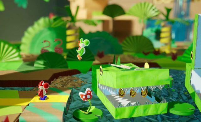 Yoshi's Crafted World crocodile en carton