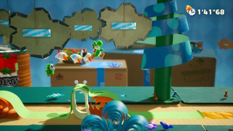 Yoshi's crafted world le carton ne craint pas l'eau !
