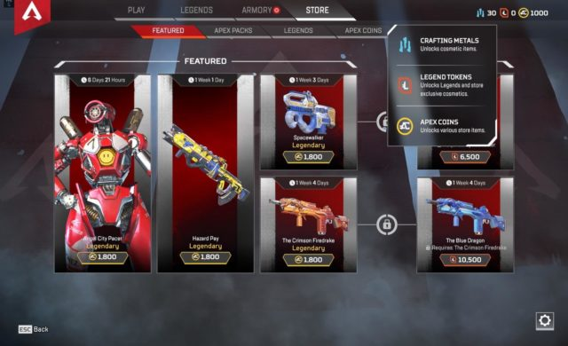 apex legends magasin