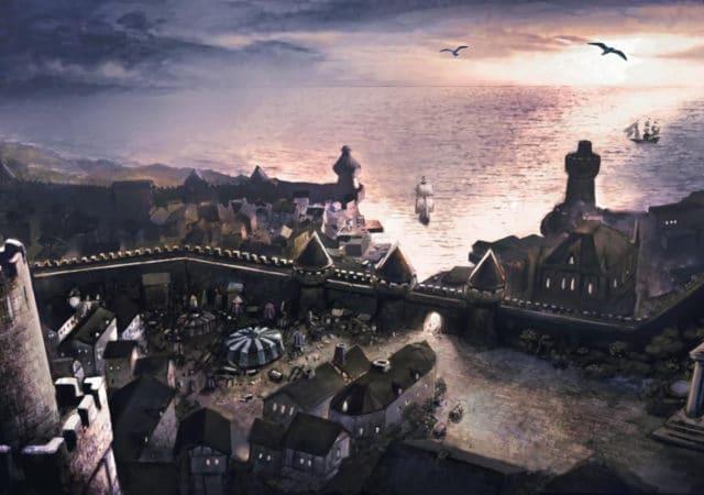 baldur's gate - paysage ville cité chateau mer