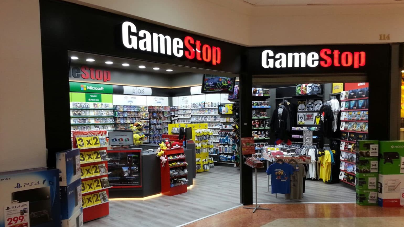 devanture boutique GameStop