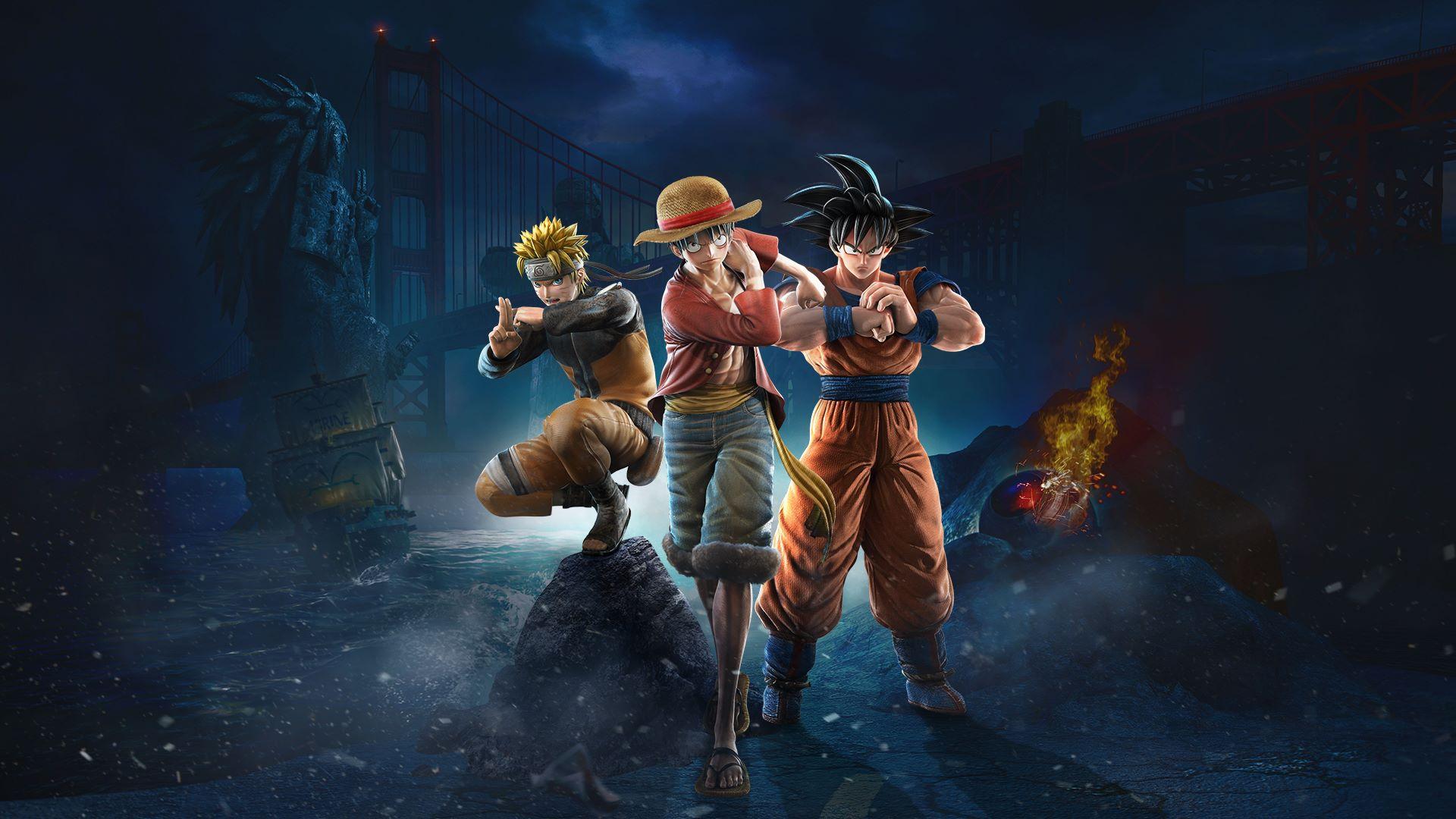Jump Force Trio Goku-Luffy-Naruto