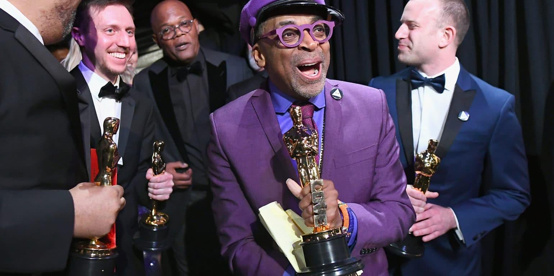 Oscars 2019 Spike Lee recoit sa première véritable statuette et il est heureux !