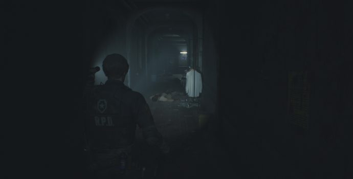 resident evil 2 test couloir