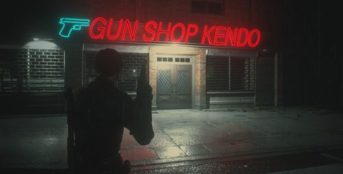 resident evil 2 test gun shop