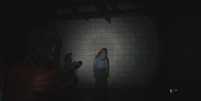 resident evil 2 test shoot zombie