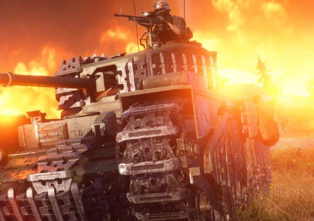 Battlefield V - Tank dans firestorm