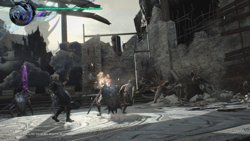 Devil May Cry 5 combat Nero et V