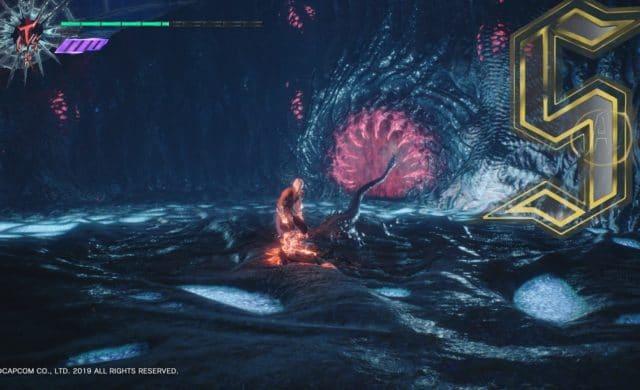 Devil May Cry 5 Dante contre des démons