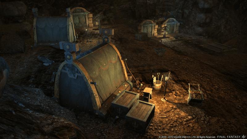 Final Fantasy XIV Fan Festival - Camp de Nains dans une mine