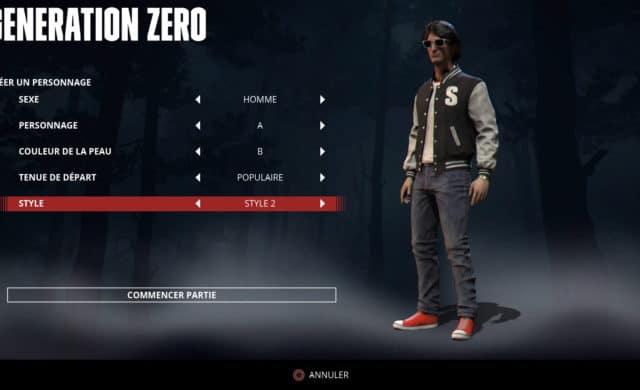 Generation zero choix personnage Kavinsky
