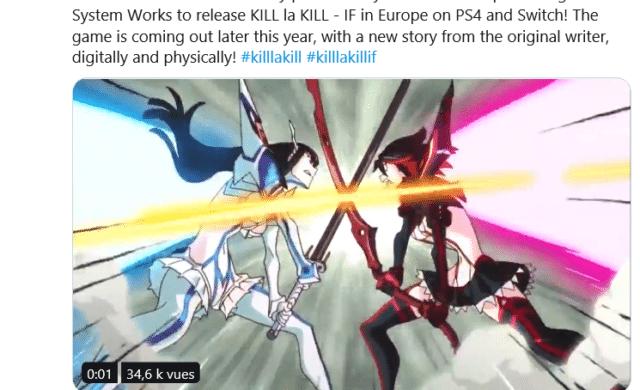 KILL la KILL: IF - Annonce Twitter